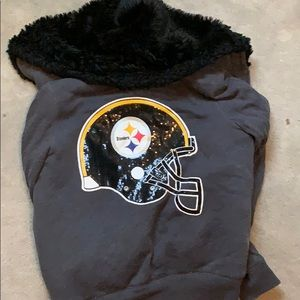 Fur inside zip up Steelers